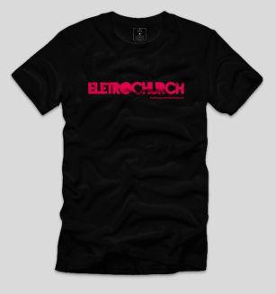 camiseta eletrochurch preta-rosa